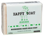 4 x Happy Goat Nourishing Goat's Milk Soap Coconut 100g 2
