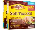 2 x Old El Paso Soft Taco Kit Mild 405g 1