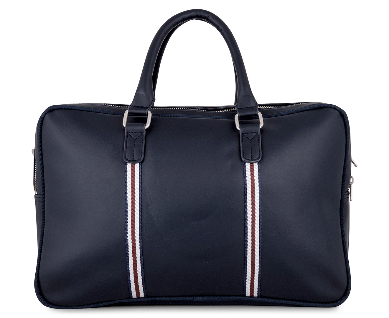 Ben Sherman Original Target Double Zip Commuter Bag Navy