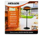Heller 2000W Electric Outdoor Patio Heater - Black 6