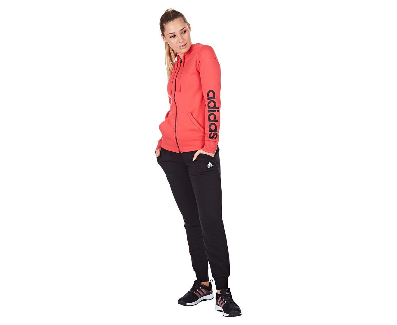 Adidas Women's Essentials Solid Pant BlackWhite