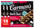 3 x Carman's Dark Choc, Cherry & Coconut Bars 210g 6pk 1