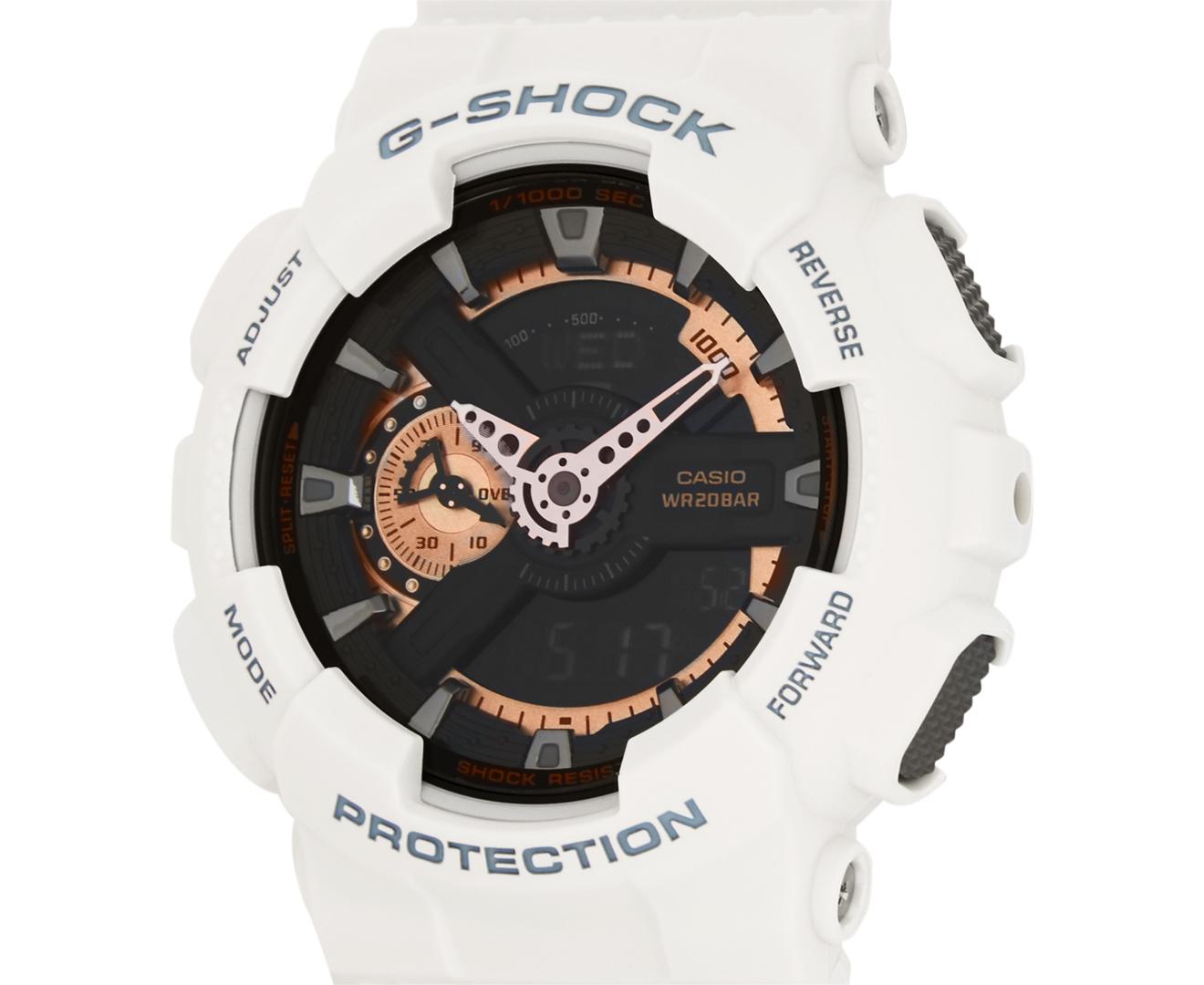 Casio G-Shock Men's 55mm GA110RG-7A Duo Watch - White/Black/Rose Gold | Scoopon Shopping