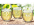 6 x Personalised Stemless Wine Glass 495mL 6