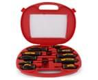 KC Tools 10-Piece Hex Bolster Screwdriver Set - Red/Black 2
