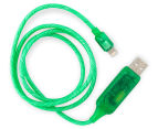 Visible Lightning USB Charging Cable - Green 3