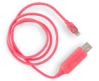 Visible Lightning USB Charging Cable - Pink 3