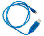 Visible Micro USB Charging Cable - Blue 3