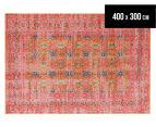 Rug Culture 400x300cm Power Loomed Distressed Modern Rug - Rust 1