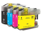 Compatible LC137 & LC135 Coloured Inkjet Cartridge Set For Brother Printers 4-Pack - Multi 1
