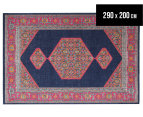Rug Culture 290x200cm Power Loomed Distressed Modern Rug - Navy 1