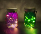 Thumbs Up! Fairy Jars Set Of 2 - Purple/Green 2