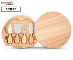 Gourmet Kitchen 5 Piece Cheese Knife & Board Set 1