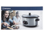 Westinghouse 3.5L Slow Cooker - Black/Brushed Stainless Steel 6