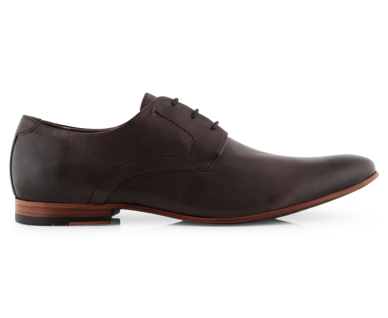 Mens Lace Up Brown Shoes Aq