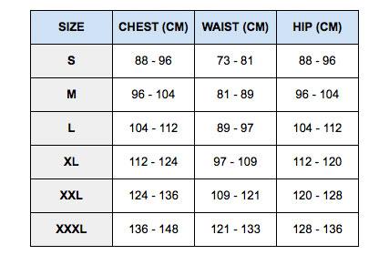 nike men's jersey size chart