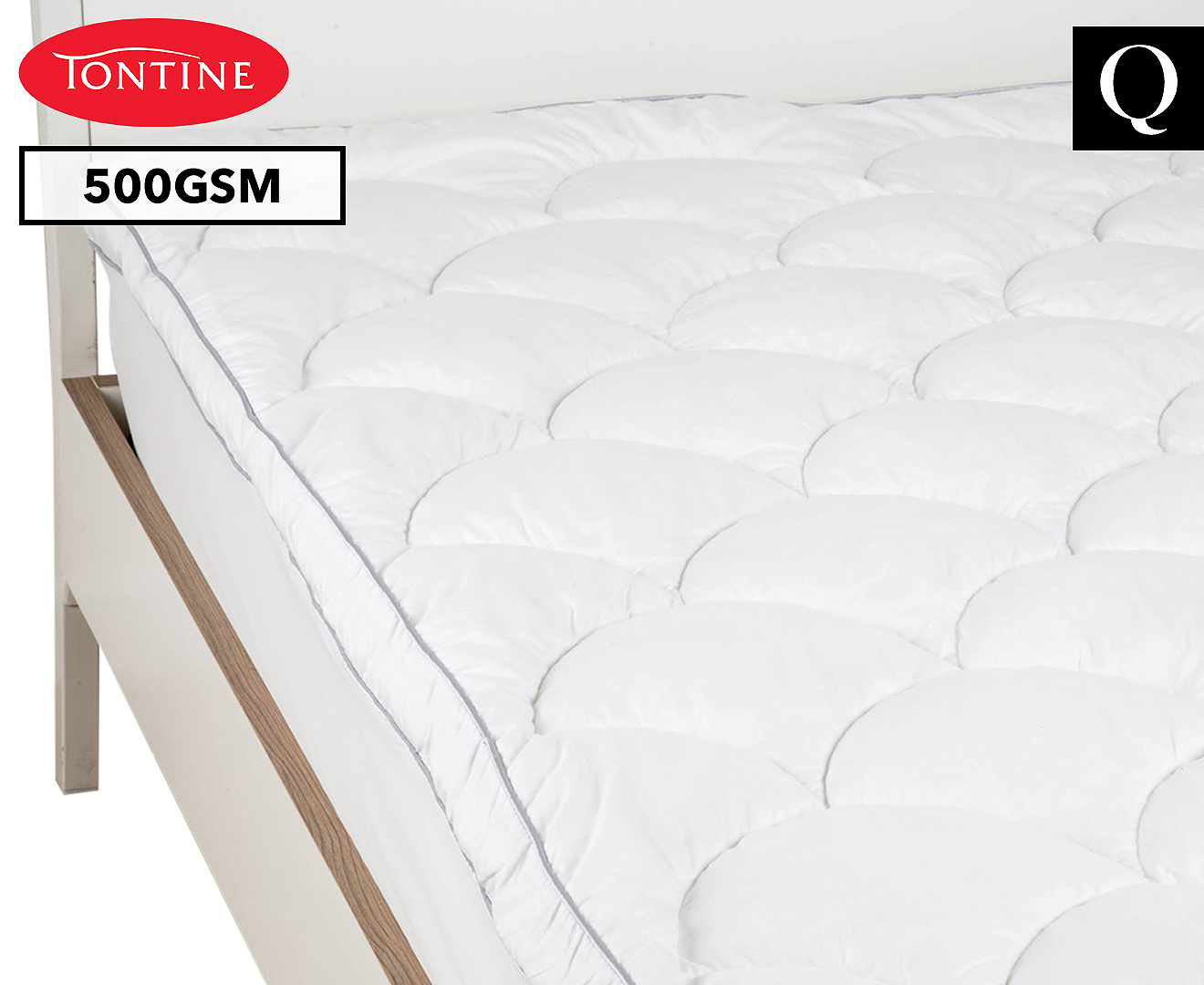 new product 77333 d1fb7 Tontine Cloud 9 Queen Bed Mattress Topper - White