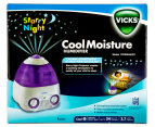 Vicks Starry Night Cool Moisture Humidifier - White/Purple 2