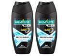 2 x Palmolive Men Refreshing 2-in-1 Shower Gel & Shampoo 250mL 1