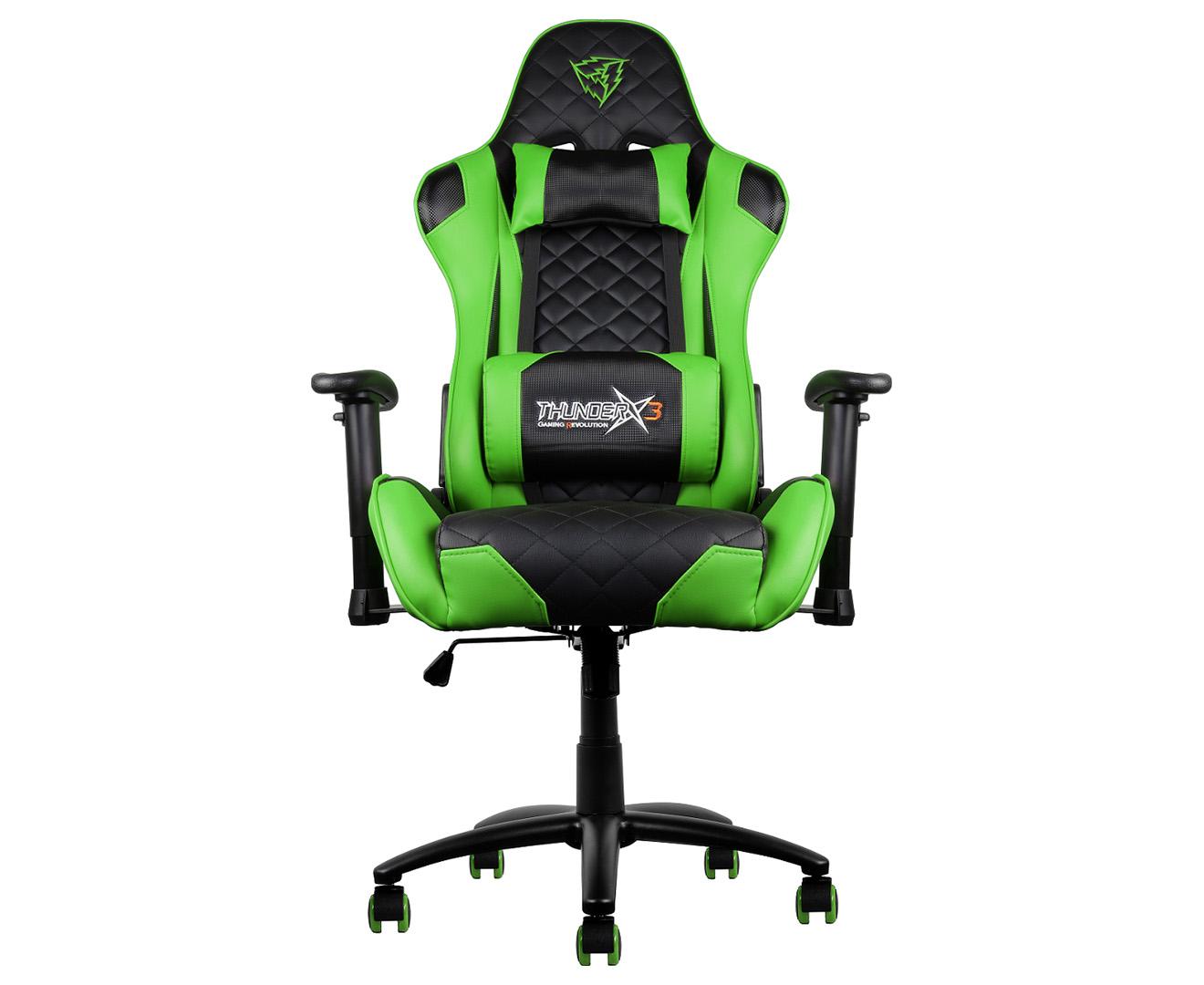 Wondrous Thunderx3 Tgc12 Gaming Chair Black Green Pdpeps Interior Chair Design Pdpepsorg