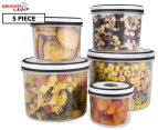 Gourmet Kitchen Storage Canister 5-Piece Set 1