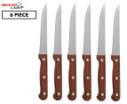 Gourmet Kitchen 6-Piece Steak Knife Set - Rose Wood 1