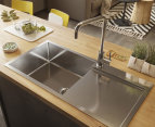 fluso 90x45cm 316 Marine Grade Stainless Steel Single Bowl Kitchen Sink w/ Drainer Board 1