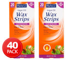 2 x Beauty Formulas Argan Oil Wax Strips 20pk 1
