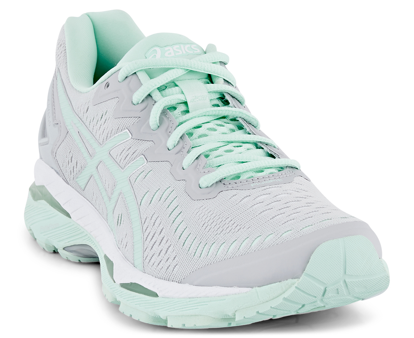 Asics Women S Gel Kayano  Lite Show Shoe Glacier Grey Bay White