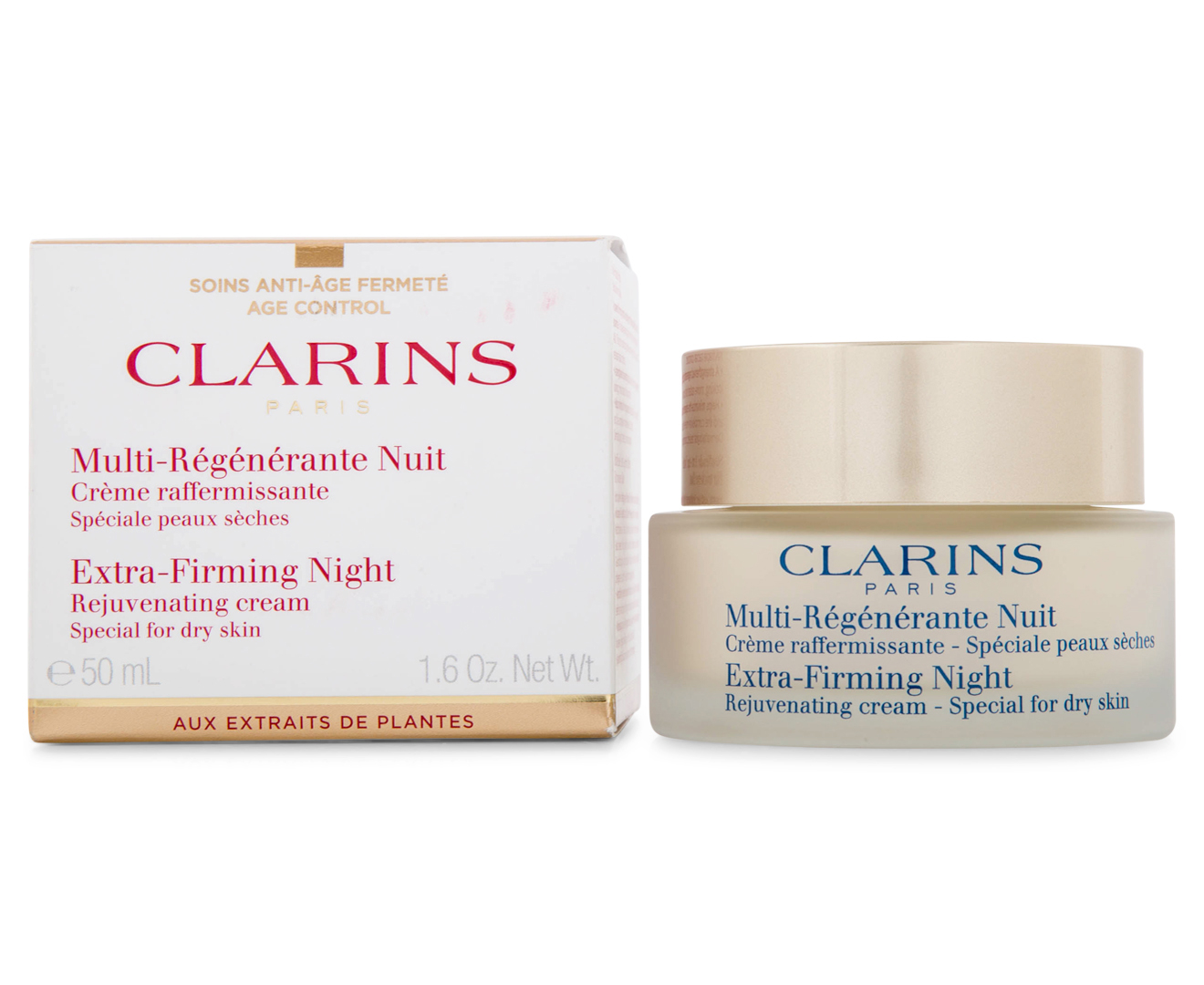 Clarins Extra Firming Night Cream 50ml Dry Skin Great Daily Day 15ml Deals At Australias Favourite Superstore