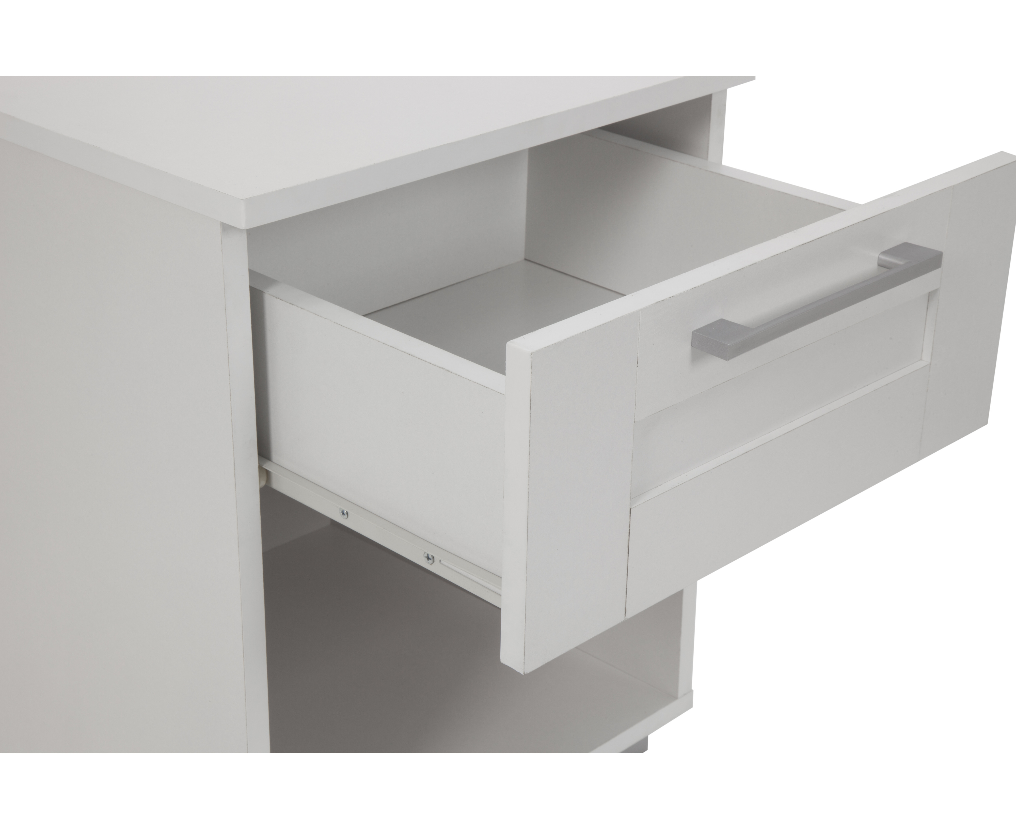 montreal bedside table with 1 drawer paper laminated matte finish room storage nightstand white