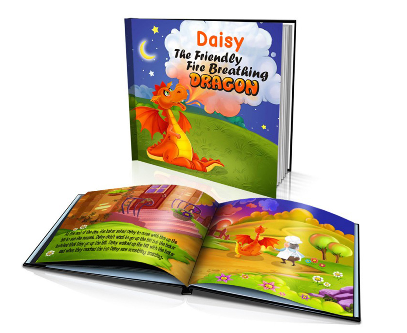 2 x Personalised Kids' Large Hard Cover Story Books ...