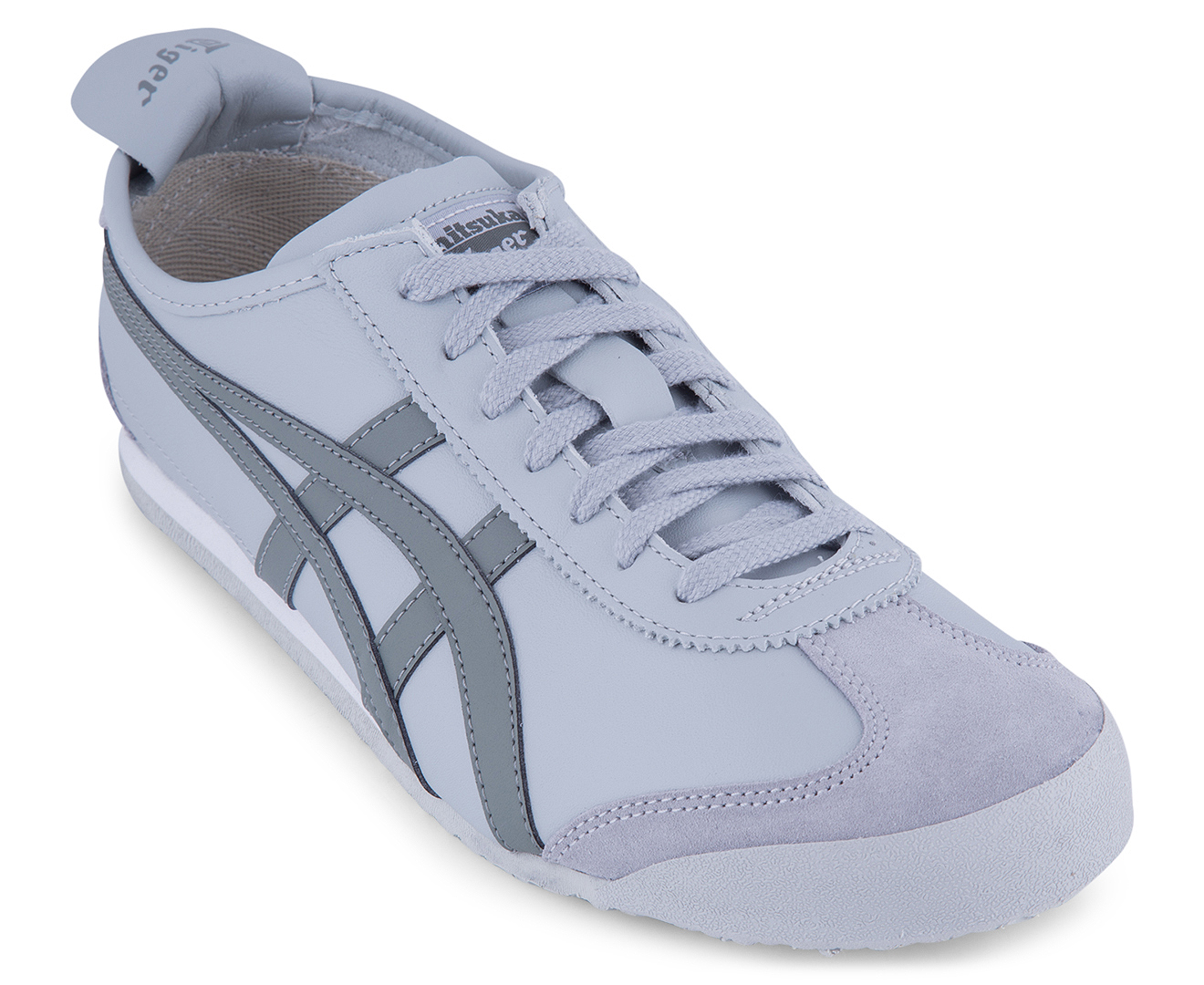 new style 45e4f 954e7 Onitsuka Tiger Mexico 66 Leather Shoe - Midgrey/Agave Green