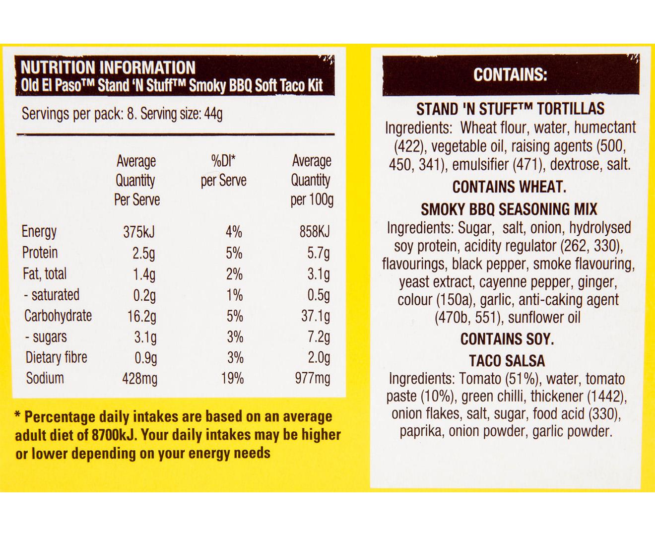 old el paso soft taco kit instructions