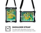 Apple iPad 9.7 2017 / iPad Air 1 case, COOPER BOUNCE STRAP Shoulder Strap Heavy Duty Work Rugged Tough Protective Drop Shock Proof Rubber Bumper Silicon Carry Kids Holder Cover Bag with Stand (Black) 2