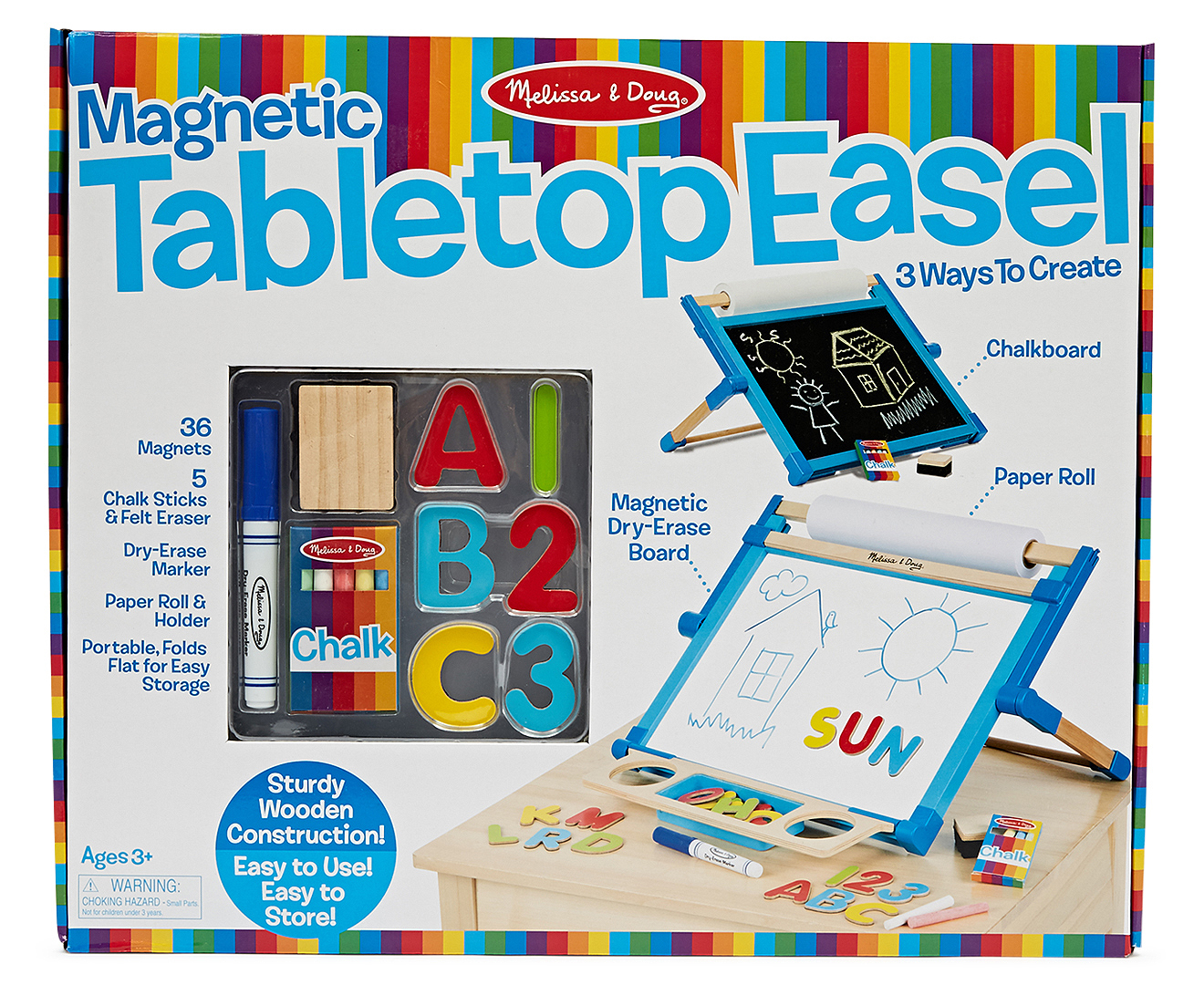 Melissa Amp Doug Deluxe Double Sided Magnetic Tabletop Easel