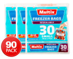 3 x Multix Resealable Small Freezer Bags 30pk 1