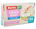 3 x Multix Green Degradable Resealable Snack Bags 50pk 2