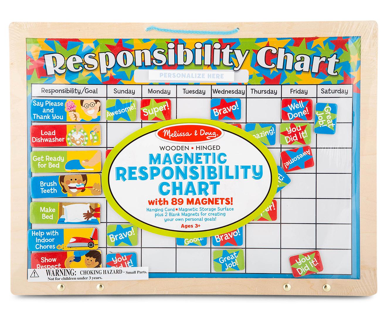 Melissa Amp Doug Magnetic Responsibility Chart Mumgo Com Au