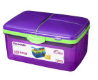Sistema 2L Quaddie Lunchbox 4-Pack - Assorted 4