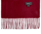 OZWEAR Connection Ugg 100% Merino Wool Scarf - Wine Red 2