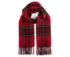 OZWEAR Connection Ugg 100% Merino Wool Scarf - Check Red/Navy 1