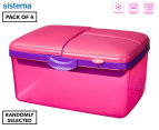 Sistema 2L Quaddie Lunchbox 4-Pack - Assorted 1