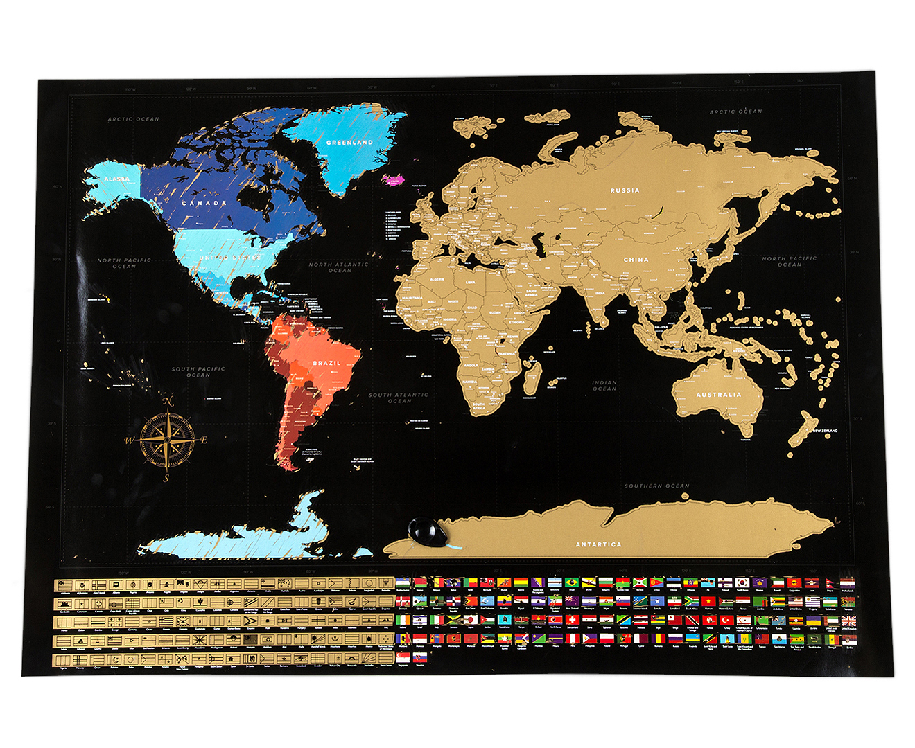World Scratch Map Black Catch Com Au