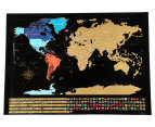 World Scratch Map - Black 1