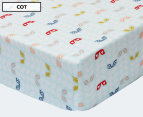 Little Cloud Leaf Fitted Cot Sheet - Multi 1