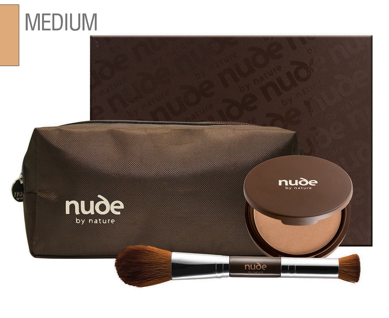 Nude by Nature Complexion & Contour Hero Kit - Medium