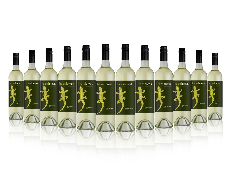 12 X Lizard Creek Chardonnay 2012 750ml Great Daily