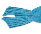 Knitted Adult 180x90cm Mermaid Tail Throw - Sky Blue 6