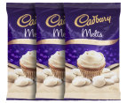 3 x Cadbury Baking Melts White Chocolate 225g 1